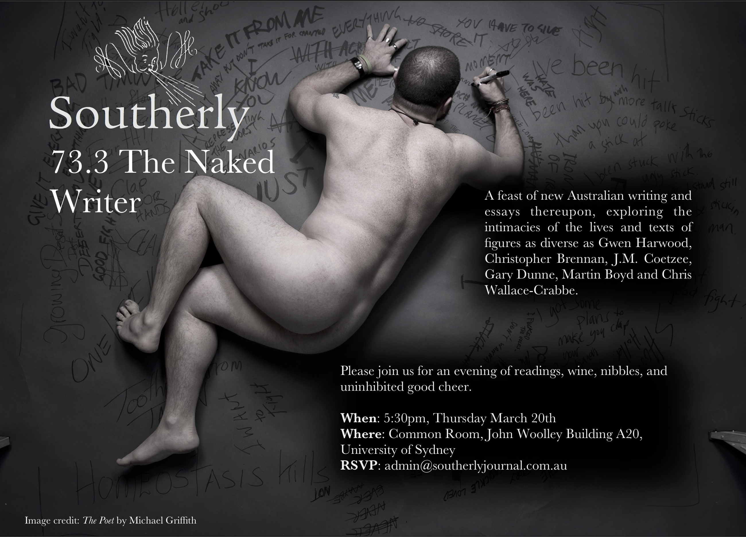 news southerly please come to the launch of southerly 73 3 the naked writer
