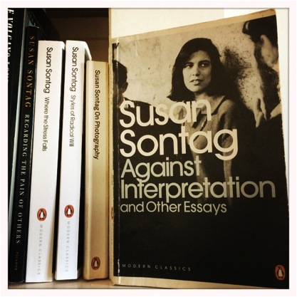 """against interpretation susan sontag essay Against interpretation by susan sontag """"content is a glimpse of something, an encounter like a flash it's very tiny - very tiny, content"""" - willem de kooning, in an interview."""